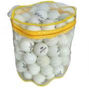 Шарики для настольного тенниса белые 3-звезды (в ПВХ тюбе на молнии по 100 штук) R18072