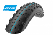 "Велопокрышка для фэтбайка Schwalbe Jumbo Jim EVOLUTION LINE 26"" x 4.8, артикул 11600717.01, 127 EPI, 1290 грамм, фолдинговая, компаунд Addix Speed grip, SnakeSkin, бескамерная технология TL Easy, цвет чёрный, ETRTO 120-559, давление 0.4 - 2.0 Bar"