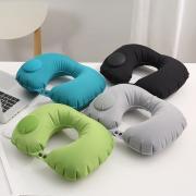 Дорожная надувная подушка для шеи со встроенной помпой Pictet Fino RH34 (Серый)