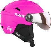 Шлем детский для горных лыж и сноубордов Bliz Jet, с визором, детский, 55806-40, розовый, размер 48-52