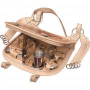 Подарочный набор охотника «Вепрь» в кожаной сумке (3 персоны) AKSO 230КК3