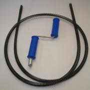 "Трос сантехнический для прочистки канализации, спираль RID-GIR 16мм 2,4м комплект ""Домашний"""