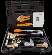 Пресс инструмент TIM механический для труб REHAU 16-25 (5 насадок) FT1240C-18