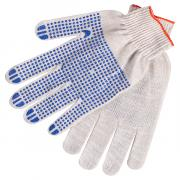 Перчатки ХБ Стандарт с ПВХ точкой - 10 класс
