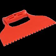 Пластмассовый шпатель 235мм зубчатый 6х6мм