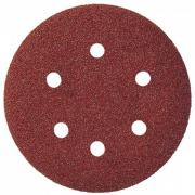 Шлиф-круг на липучке для обработки дерева и метелла с отверстиями Klingspor Р36 6 отверстий 270249