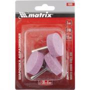 Шарошка абразивная (3 шт; 38x12x6 мм; f46; диск) matrix 76009