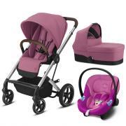 Коляска 3в1 Cybex Balios S Lux SLV Magnolia Pink (с адаптером и дождевиком)