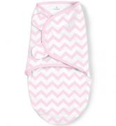 Summer Infant Конверт на липучке Swaddleme®, размер S/M, розовый/зигзаги2