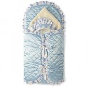 Комплект на выписку Осьминожка 8-ми пр,(голубой), конверт,одеяло атласное на меху(100*100 )