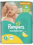 Pampers Подгузники New Baby-Dry 3-6 кг (размер 2) 94 шт