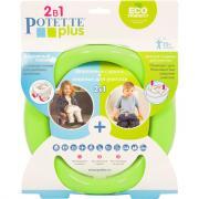Дорожный горшок Potette Plus + 1 одноразовый пакет, зеленый/голубой