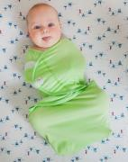 Pecorella Пеленка на липучках SwaddleFun Light Green Размер XL 6,5-10 кг