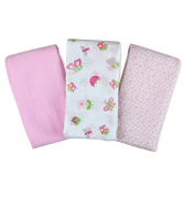 Пеленки Summer Infant Набор пеленок Muslin Swaddleme®, (3 шт.), белый, с рисунком из жучков и бабочек