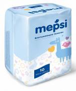 Пеленки детские впитывающие mepsi р-р 60х60 10 шт/уп