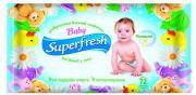 Влажные салфетки Baby Superfresh для детей и мам, ромашка, 72шт.