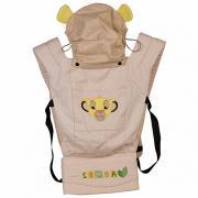 Рюкзак-кенгуру Polini kids Disney baby Король Лев , с вышивкой, бежевый