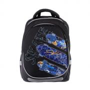 Рюкзак школьный с эргономичной спинкой Kite 700, 38 х 28 х 16, для мальчика Skate, чёрный
