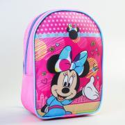 Рюкзак детский, Минни Маус, 21 x 9 x 26 см, отдел на молнии