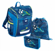Ранец STEP BY STEP BaggyMax Niffty Soccer синий 3 предмета 384740