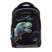 Рюкзак школьный с эргономичной спинкой Kite 700, 38 х 28 х 16, для мальчика Tyrannosaur, чёрный