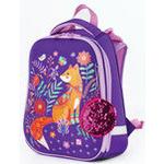 Ранец с жестким каркасом BRAUBERG PREMIUM для девочек, Рыжая лиса, 38х29х18 см, 227816