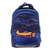 Рюкзак школьный с эргономичной спинкой Kite 700(2p), 38 х 28 х 16, для мальчика, с крышкой Fast cars, синий