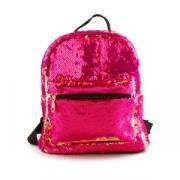 Рюкзак детский перламутровый с пайетками- перевертышами Lilly Kids ярко-розовый