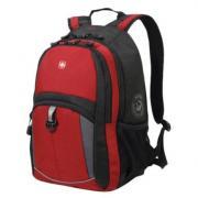 Рюкзак универсальный WENGER 33х15х45см, 22л, красно-черный, серые вставки