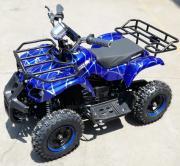 Электроквадроцикл детский GreenCamel Gobi K31 (36V 800W R6 цепной привод) синий паук