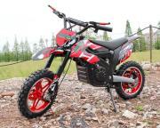 Электромотоцикл детский GreenCamel Питбайк DB100 (24V 500W R14 быстросъемная батарея) красный