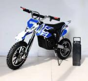 Электромотоцикл детский GreenCamel Питбайк DB400 (48V 1200W R14 быстросъемная батарея) синий