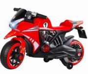 Электромотоцикл City-Ride Красный 2*6V4,5Ah USB MP3 Пар CR002RD