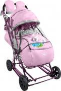 Санки-коляска Nika, НД8-3К, лиловый