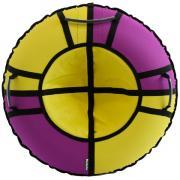 Тюбинг Hubster Хайп фиолетовый-желтый 120 см во5551-4