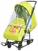 Cанки-коляска Nika Baby 1 Disney Тигруля, лимонные
