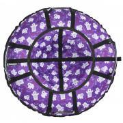 Тюбинг Hubster Люкс Pro Мишки фиолетовые, размер 80см