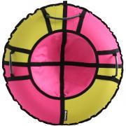 Тюбинг Hubster Хайп желтый-розовый 120 см во5656-4