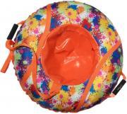 Санки Ватрушка Клякса (низ- армированный тент 600, верх- ПВХ) SM-249 95 см Оранжевый