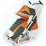 Санки коляска Скользяшки 0936-P14 Мозаика оливковый-оранжевый-светло-бежевый