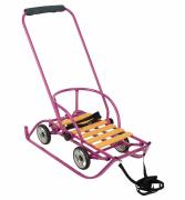 Санки-коляска Русские игрушки Санимобиль премиум сиреневый GL000267877