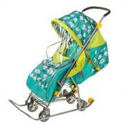 Санки коляска «Умка 3-1. Мишки», цвет: изумруд