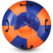Санки-ватрушка Мега SM-245 (синий-оранжевый) (Диаметр, см: 105)