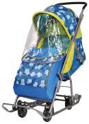 Cанки-коляска Nika Умка 3-1, медвежата на синем