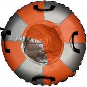 Санки Ватрушка Мега (армированный тент 600 ) SM-245 105 см Металлик-оранжевый