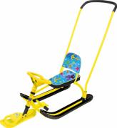 Снегокат Nika Twiny 2 с осьминогами ( желтый каркас) TW2/О2