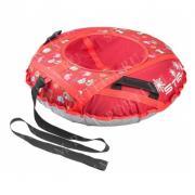 Санки надувные 80 см STELS Тюбинг ткань с рисунком без камеры СН030 Красный