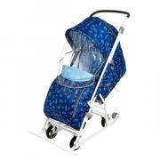 """NIKA kids YZ17 Санки-коляска комбинированная """"Умка 3-1"""" с трансформируемым кузовом, синяя"""