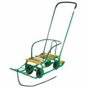 Санки Ника Тимка 5 Универсал с выдвигающимися колесами Зеленые Т5У