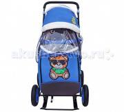 Санки-коляска Galaxy Snow City-1-1 Зеленый Мишка колеса надувные